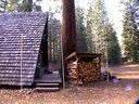 Lodge Pole Pine Woodshed & Giant Cedar